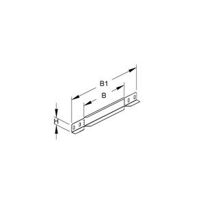 RA 35.050, Reduzier-/Abschlussstück für KR, 35x50 mm, Stahl, bandverzinkt DIN EN 10346, inkl. Zubehör