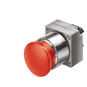 3SB3500-1DA21, Pilzdrucktaster, 22mm, rund rot