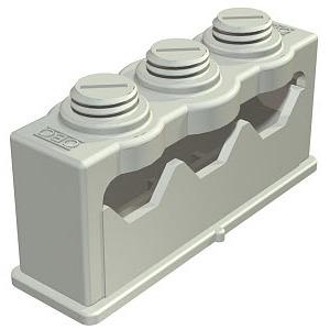 3040 3, Greif-ISO-Schelle für 3 Kabel 6-16mm, PS, lichtgrau, RAL 7035
