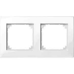 M-PLAN-Rahmen, 2fach, polarweiß glänzend