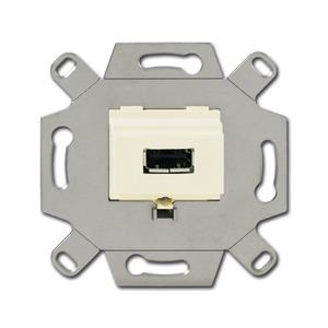 0261/11, USB-Anschlussdose, weiß, UP-Montagedosen und -Einsätze, Einsätze für Multimedia/Kommunikationsadapter