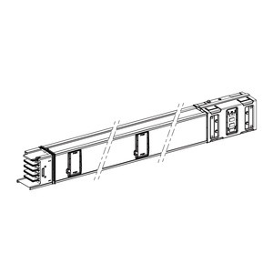 KSA630ED4154, KSA gerades Element, 630A, 1,5m, 4Abgänge