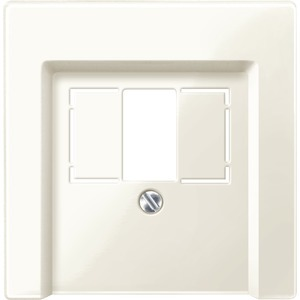 Zentralplatte für Fernmelde-Anschlussdose TAE, weiß glänzend, System M
