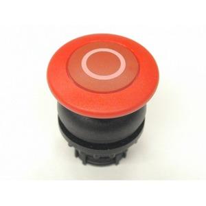 M22S-DP-R-X0, Pilzdrucktaste, rot 0, tastend