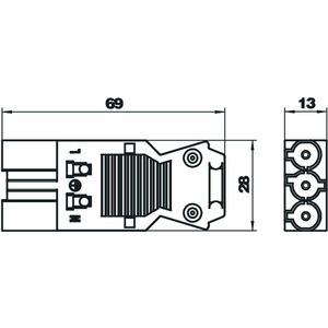 ST-S GST18i3p W, Steckerteil 3-polig Schraubanschluss, weiß