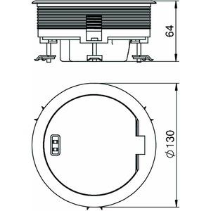 GESRN 2HS, Geräteeinsatz für HB/DB, vernickelt, Zn, N