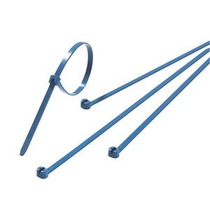 TY528M-NDT, Ty-Rap, Kabelbinder mit Stahlnasenverschluss, detektierbar, 360x4,8mm, hellblau, PA