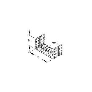 RV 110.550 F, Stoßstellenverbinder, einstückig, U-förmig, 99x547 mm, Stahl, feuerverzinkt DIN EN ISO 1461, inkl. Zubehör