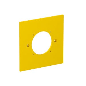 VH-P7, Abdeckplatte für 1x Steckdose 38x38 95x95mm, PA, rapsgelb, RAL 1021