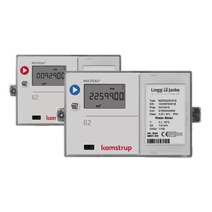 KAM-MC62, KNX Warm-Wasserzähler Kamstrup Multical 62  Q3 1,6 / DN20 / 190mm / G1 / 90°C