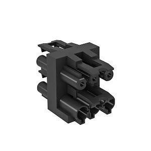 VB-3 GST18i3p, Verteilerblock 3-polig 1 Eingang / 3 Ausgänge 3-polig, schwarz