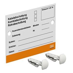 KS-S DE, Kennzeichnungsschild für Abschottungssysteme 100x70mm, PS