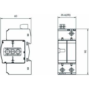 V25-B+C 1+NPE+FS, CombiController V25 1+1 Ausführung mit FS 280V