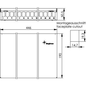 MPD24 AMJ/UMJ inkl. Kabelabfangung, 24 Ports, reinweiß