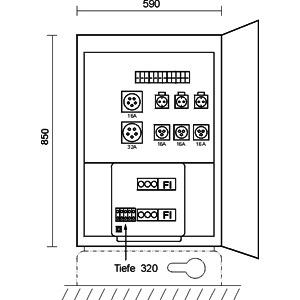 MFV 0/3,3-11, Markt- und Festplatzverteiler im Gehäu
