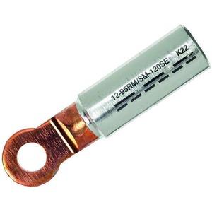 ICALCU2512, Al/Cu Presskabelschuh nach DIN 46329, 25qmm rm/sm 35qmm se M12 blank