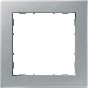1-fach Rahmen PUR, silber