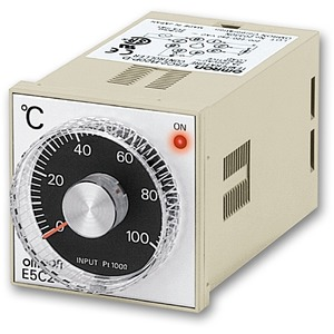 E5C2-R20J 100-240VAC 0-300, Basis Temperaturregler,1/16 DIN, 48x48mm,Wahlknauf,Einpunktregelung,J-Thermoelement,0-300deg.,100-240V AC