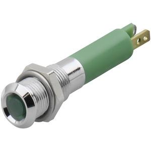 Leuchtm.M6 24VDC grün 3 mm  flach