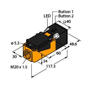 RU200-CP40-LIU2P8X2T, Ultraschallsensor, Reflexionstaster
