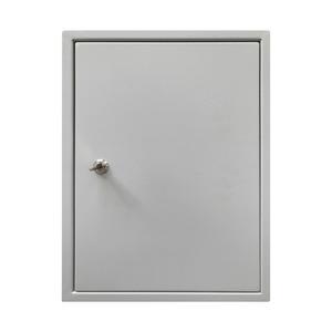 Abschließbares Gehäuse mit Montageplatte und einem Schlüssel BxHxT: 400x400x200 mm