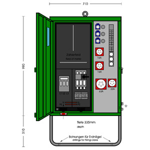 AV 63/3211-BMO, Anschlußverteiler-Endverteilerschrank
