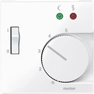 Zentralpl. f. Fußbodentemperaturr.-Eins. m. Schalter, aktivweiß glänzend, Sys. M