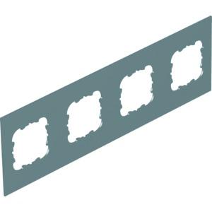 T12L P4S 9011, Abdeckplatte 4xEK für T12L 284x88mm, PVC, graphitschwarz, RAL 9011