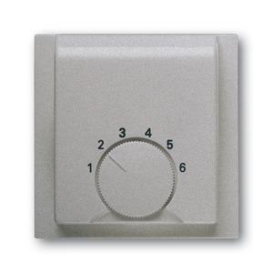 1794-783, Zentralscheibe, alusilber, impuls, Bedienelemente für Raumtemperaturregler