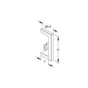 GWB 213T60 R, GK-Wandabschlussblende, einzügig, 254x61 mm, Stahl, bandverzinkt DIN EN 10346, pulverbesch., RAL 9010, reinweiß