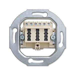 0243/02, TAE-Anschlussdose, weiß, UP-Montagedosen und -Einsätze, Einsätze fuer Datenkommunikation