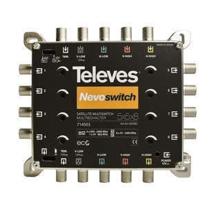 5 in 8 Guss-Multischalter NEVO, receiverpowered, kaskadierbar
