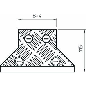 DFAA BKS300 DD, Deckel Anbau-Abzweigstück mit ALU-Riffelblechabdeckung B300mm, Alu, DD