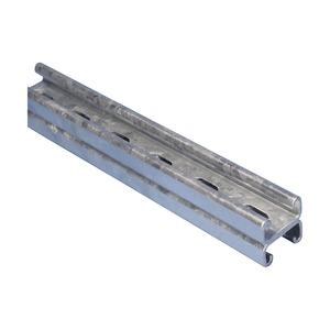 CC25H3000PG, Montageschiene Typ CC, mit Langloch, Stahl, PG, 3.000 mm x 41 mm x 41 mm x 2,5 mm (9,84')