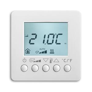 6138/11-84, Raumtemperaturregler Fan Coil mit Display, AP, studioweiß, Busch-Installationsbus KNX, Raumtemperaturregler Objektbereich
