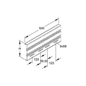 WSV 200.500 F, Stoßstellenverbinder, 201,5x500 mm, Stahl, feuerverzinkt DIN EN ISO 1461, inkl. Zubehör