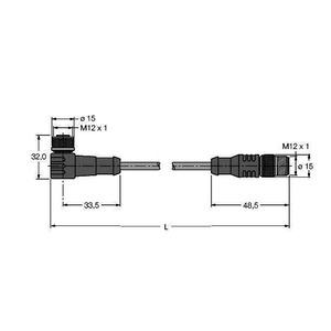 WK4.5T-10-RS4.5T/S2500, BLident-Leitung Standard-Ausführung, Verbindungsleitung