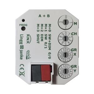 TS2FL-1-QW, KNX quick Tasterschnittstelle, für Wippe 1-fach mit LEDs, mit Systemstecker