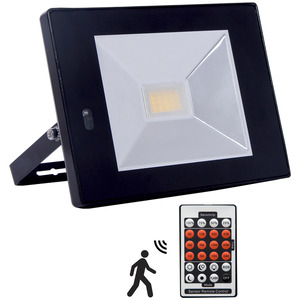 LED Floodlight Slim Detect 30W 4000K Black IP65