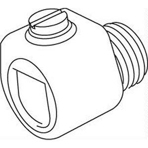 434, Klemmnippel, Länge 18 mm, Gewinde M10x1, für Kabel-Ø 3-6,5 mm, Kunststoff PS, Farbe schwarz