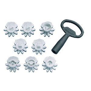 Schlüsseleinsätze, Doppelbart mit 3-mm-Zapfen