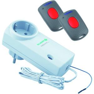 Set Funkumrüstung Garagentor Easywave 868 MHz mit zwei Handsendern RT43 und einemSteckdosen-Empfänger RCP02 mit Steckersystem D/A/NL/S/N