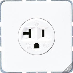 CD 521-20, Steckdose mit Schutzkontakt, 20 A, 125 V ~, amerikanisches System (NEMA)