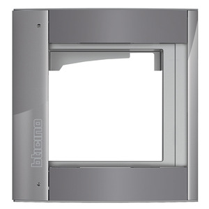 Bticino 350213, Abdeckrahmen + Modulträger 1 Modul, Türstation SFERA Aluminium, Farbe: Allstreet