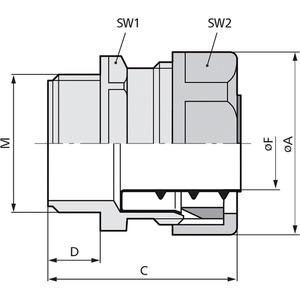 SILVYN® USK-M 32x1,5 SGY