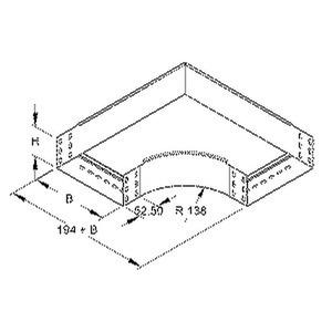 RES 85.300 F, Bogen 90° für KR, 85x302 mm, mit ungelochten Seitenholmen, Stahl, feuerverzinkt DIN EN ISO 1461, inkl. Zubehör