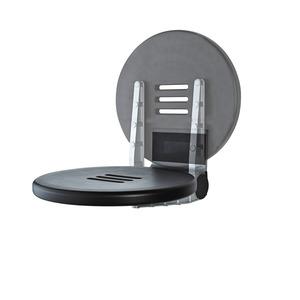 DKS AS, Duschklappsitz, Premium, Aluminium schwarz