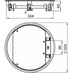 GESR9-2U12T 9011, Geräteeinsatz für Universalmontage 324x324x68, PA, graphitschwarz, RAL 9011