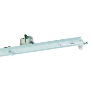 VLG-T16 135/49/80-11 Z-UR, Geräteträger weiß, IP20, 11-polig, 1xT16 35, 49, 80W, Multiwatt EVG, Umschaltrelais für zentrale Ersatzstromversorgung, L=1537mm. Beim variablen Platz