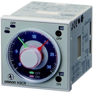 H3CR-F8N AC24-48/DC12-48, Zeitrelais, 8-Pin Rundsockel, Frontmaß: 48x48mm², Zeitbereich: 0,05s..300h